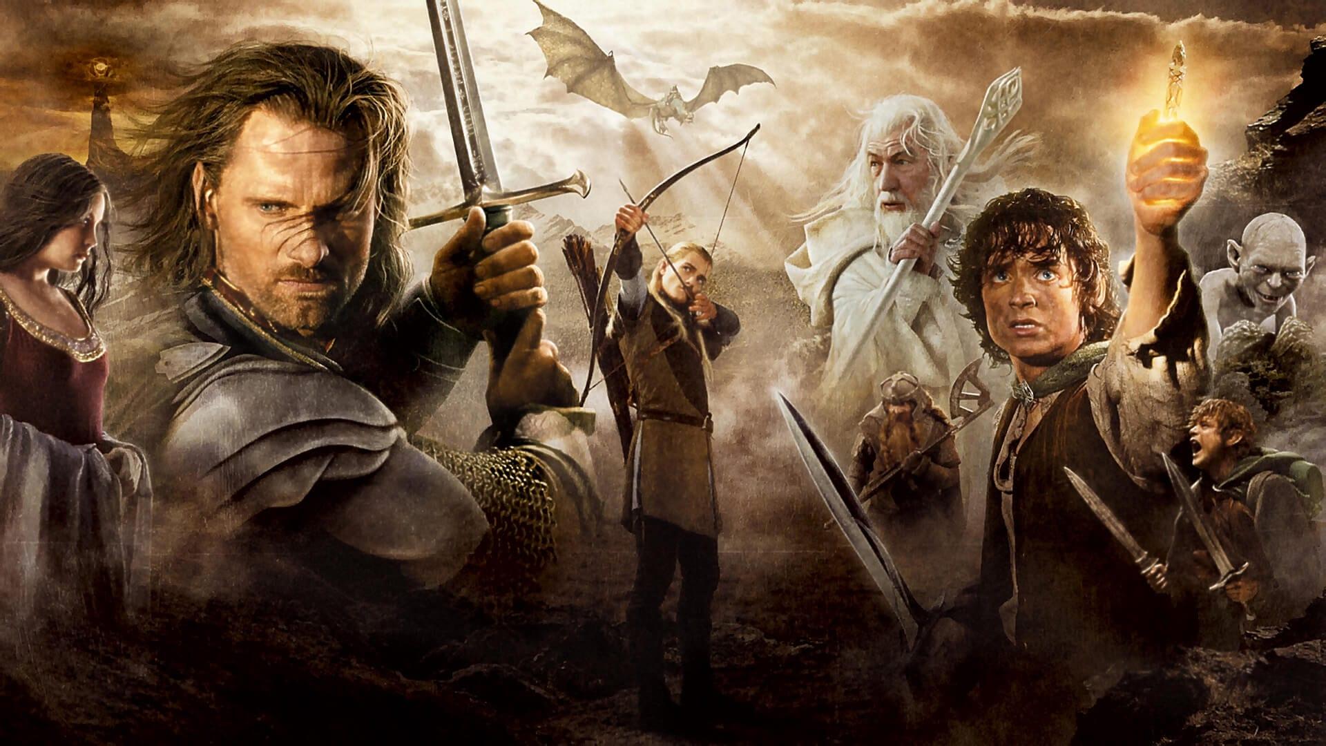 Elinde kılıç tutan bir adam ve arkada parlayan bir ışık