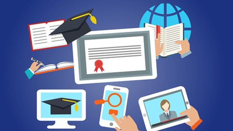 Online eğitim görseli.