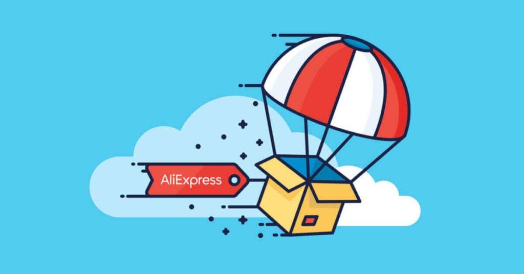 aliexpress etiketli bir kargo balonu