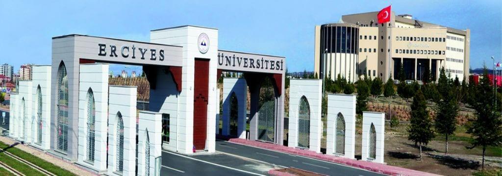 Erciyes Üniversitesi Giriş Kapısı ve Rektörlük Binası Görseli - Aşı Çalışması