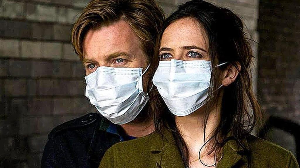 maske takan erkek ve kadın