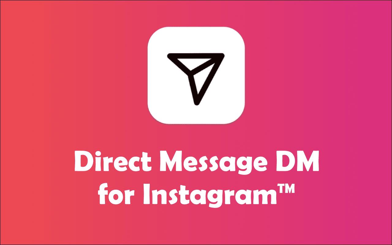 instagram dm logosu ve altında yazılar