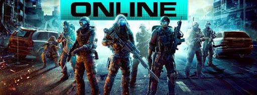 online yazısı altında silahlı adamlar