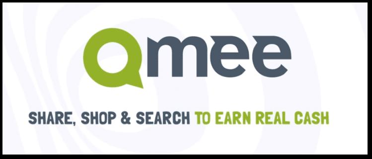 Qmee sitesinin logosu ve altında qmee sitesinin sloganı