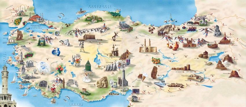 Türkiye'nin Doğal ve Tarihi Güzelliklerinin Hangi Şehirlerde Olduğunu Biliyor Musun? yazısının öne çıkan görseli