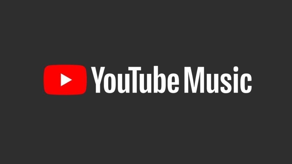 siyah bir font üzerine youtube müzik yazısı ve logosu