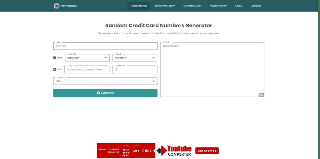 Namso Gen sitesi anasayfası