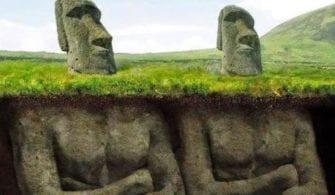insana benzeyen dev heykeller toprağın altında