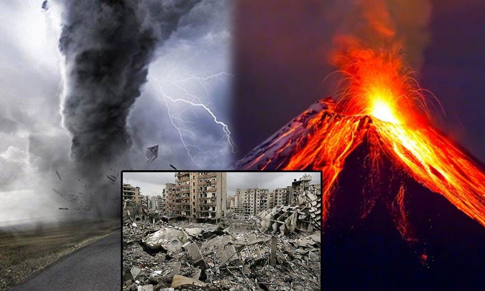 deprem, fırtına ve yanardağ