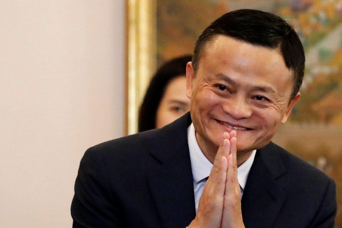 Alibaba'nın kurucusu olan Jack Ma'nın bir fotoğrafı.