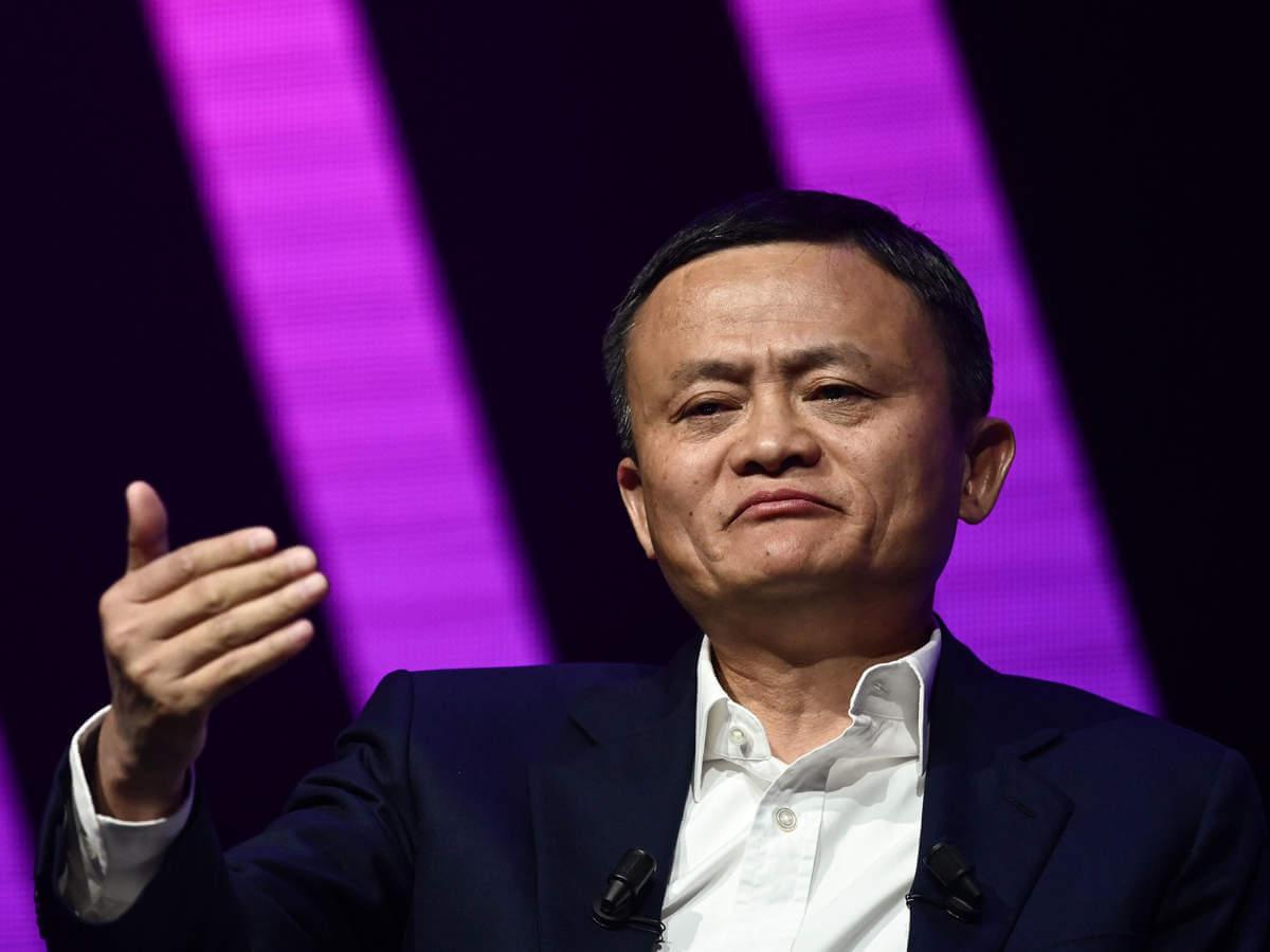 Alibaba'nın kurucusu Jack Ma'nın fotoğrafı.