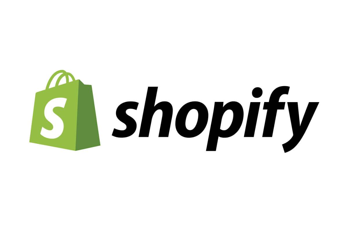 shopify yazısı ve logosu