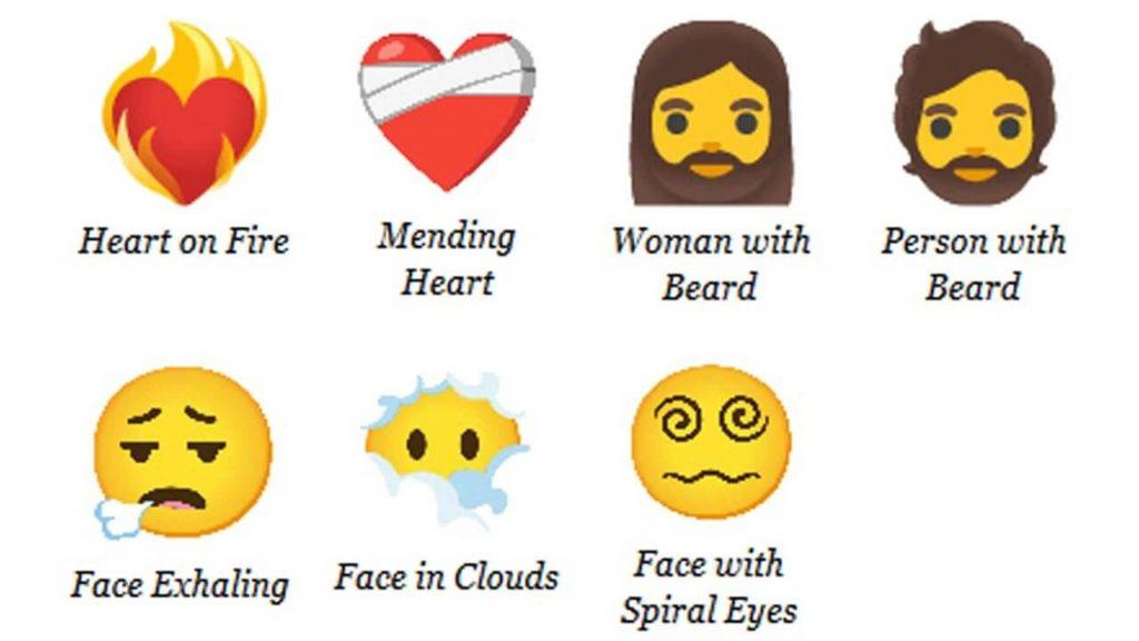 Yeni çıkacak emojilerin görseli.