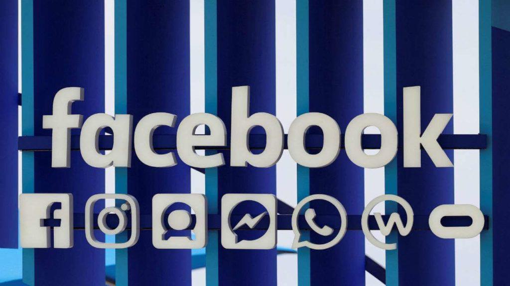 Ortada Facebook yazısı ve altında Facebook'un sahip olduğu şirketlerin logoları.