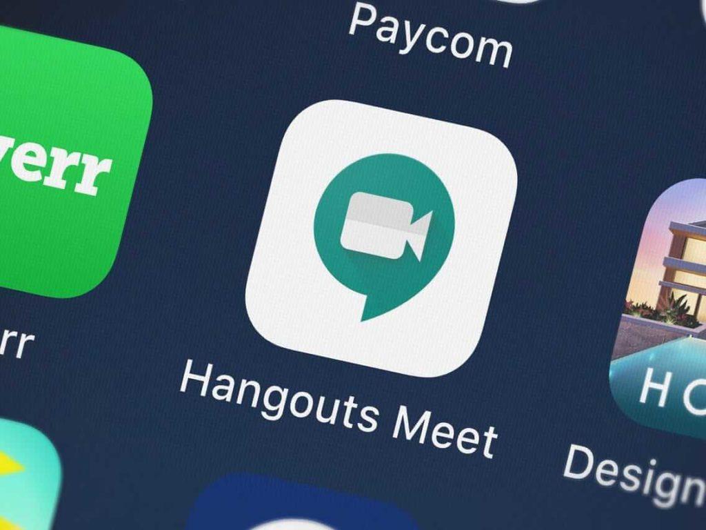 google hangouts meet uygulaması görseli