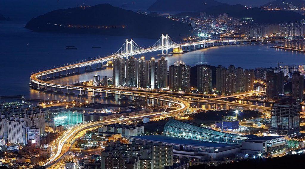 güney kore'den bir şehir görseli