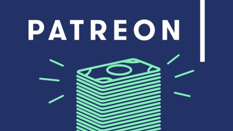 Patreon yazısı ve para görseli