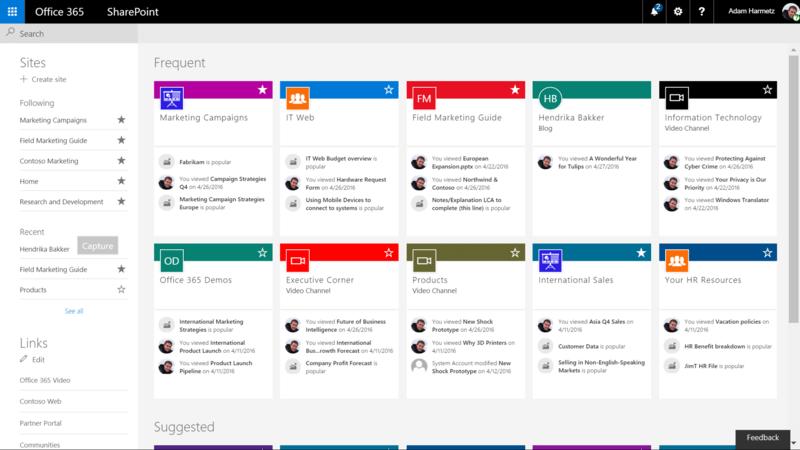 microsoft sharepoint içeriğinden bir görsel