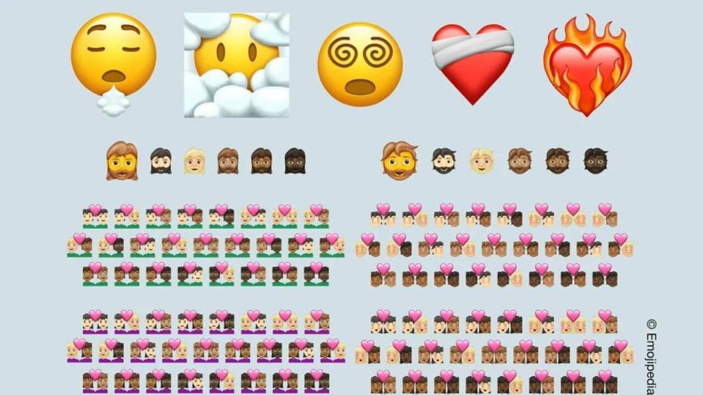Yeni kullanıma sunulacak emojilerin görseli.