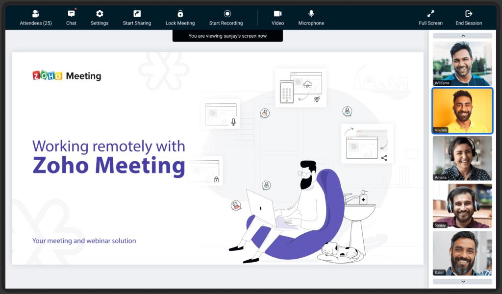 zoho meeting uygulaması görseli