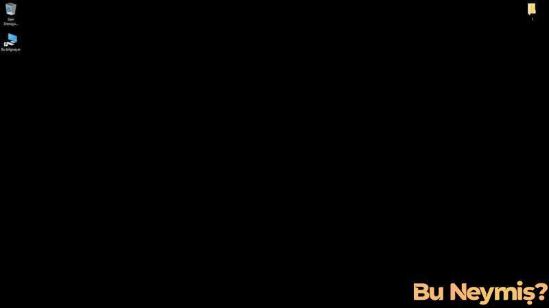 siyah renk masaüstü