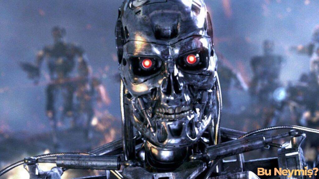Öldürücü Savaş Robotları temsil eden görsel