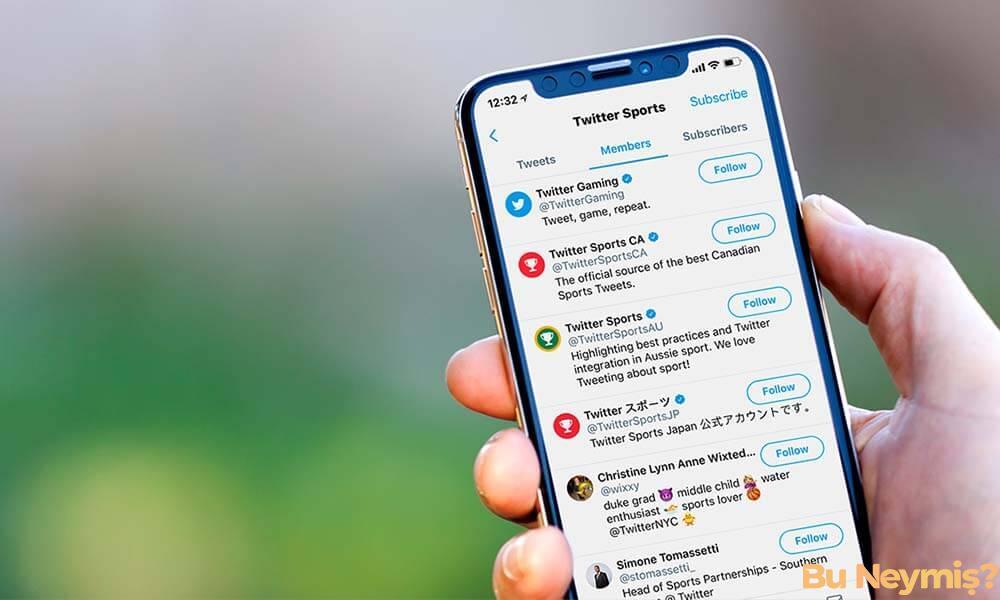 Telefon ekranında açık duran Twitter ekranı